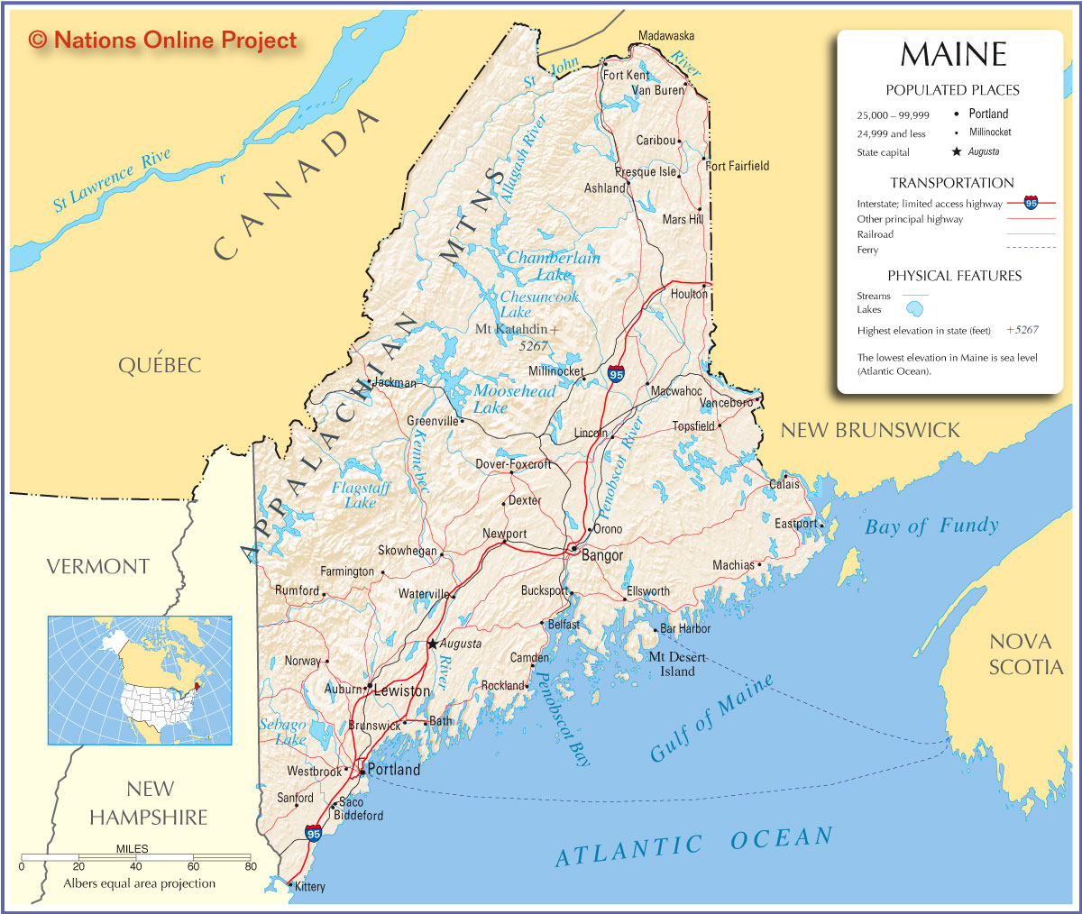 Printable Map Of Maine Usa Pictures To Pin On Pinterest PinsDaddy - Maine on map of usa